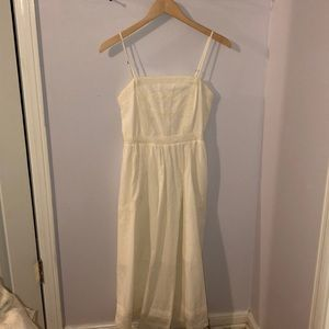 Nordstrom BP White Midi Dress